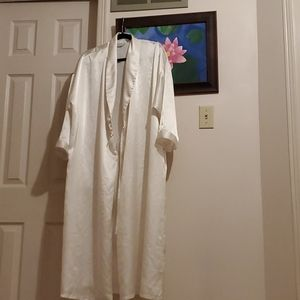 beautiful long white robe